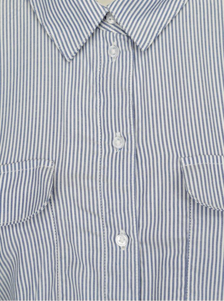 Bílo-modré pruhované košilové šaty Jacqueline de Yong Beach