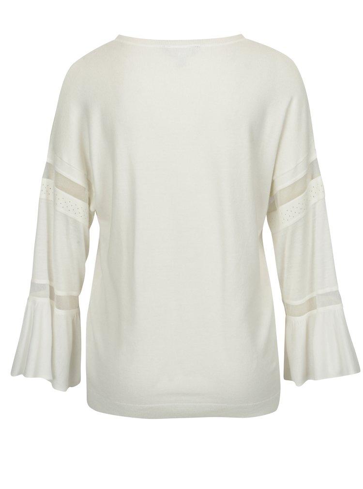 Krémový lehký svetr se zvonovými rukávy Dorothy Perkins