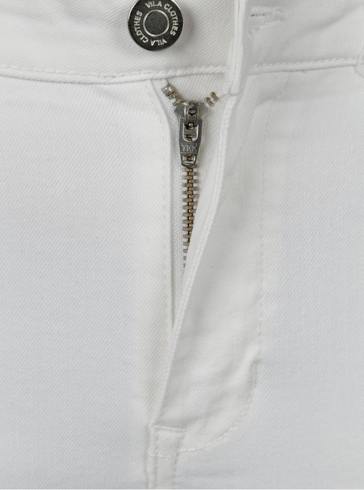 Bílé skinny džíny s třásněmi VILA Junas