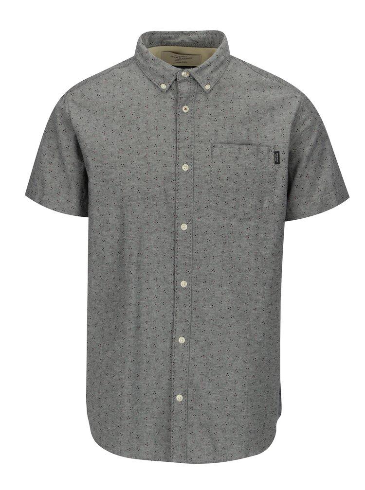 Šedá vzorovaná košile Jack & Jones Premium Murtough