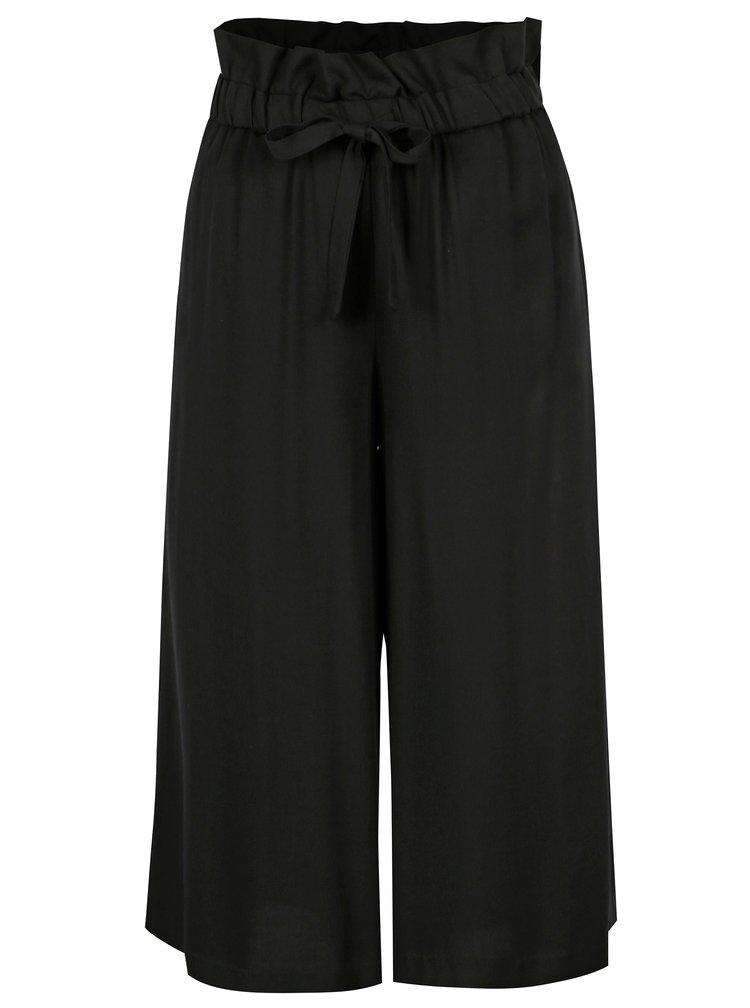 Černé culottes s páskem VILA Amaly