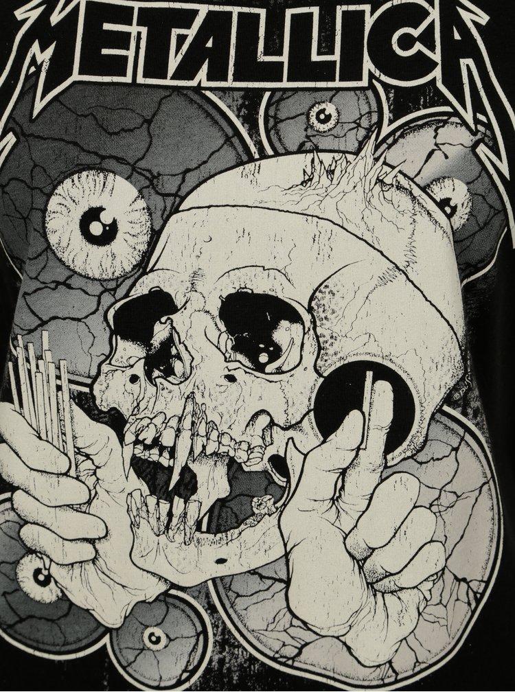 Černé tričko s potiskem Noisy May Metallica
