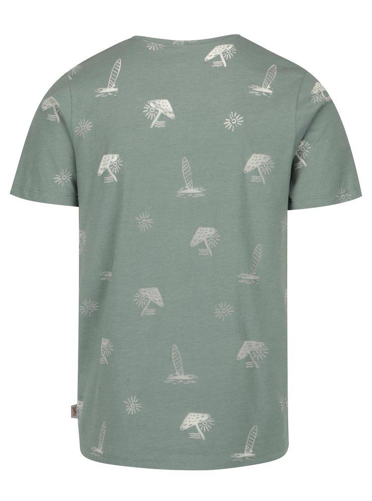 Tricou verde cu print - Jack & Jones Premium Jorseal Tee