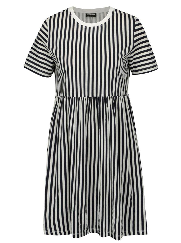 Krémovo-modré pruhované šaty Noisy May Freja