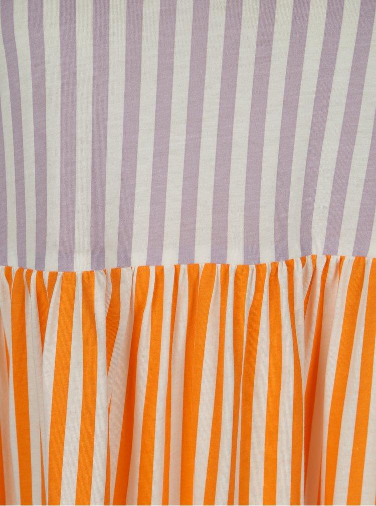 Rochie portocaliu&crem in dungi - Noisy May Freja