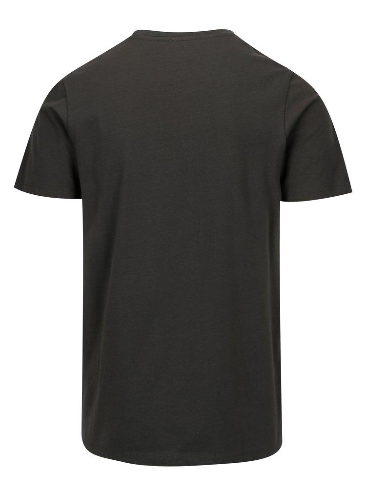 Tricou gri inchis cu print peisaj Jack & Jones Premium Horizon