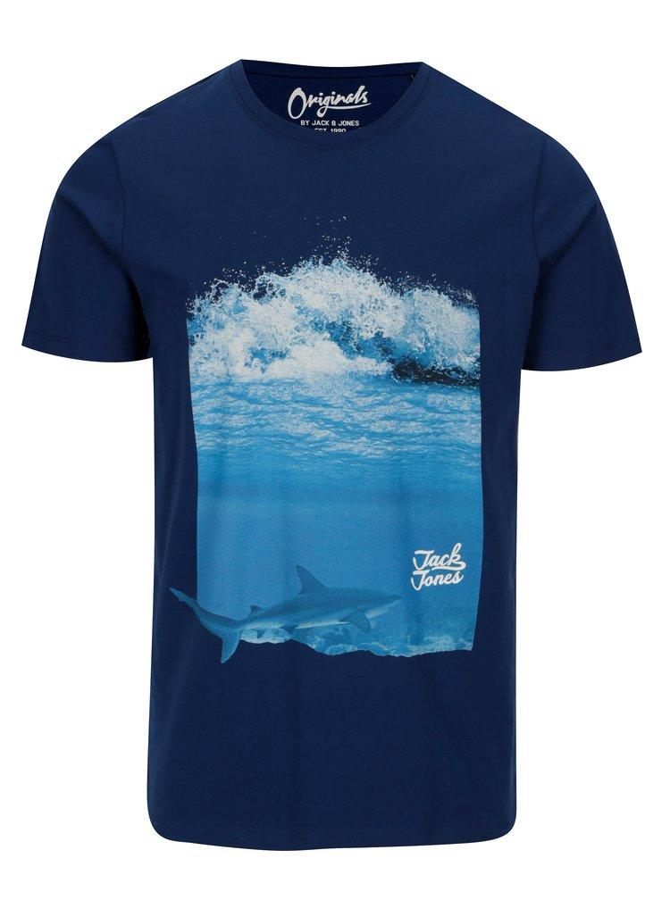 Tmavě modré tričko s potiskem Jack & Jones Premium Horizon