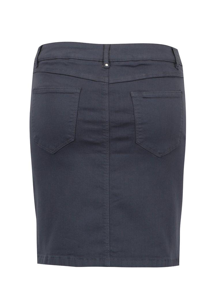 Šedá džínová sukně VILA Amy