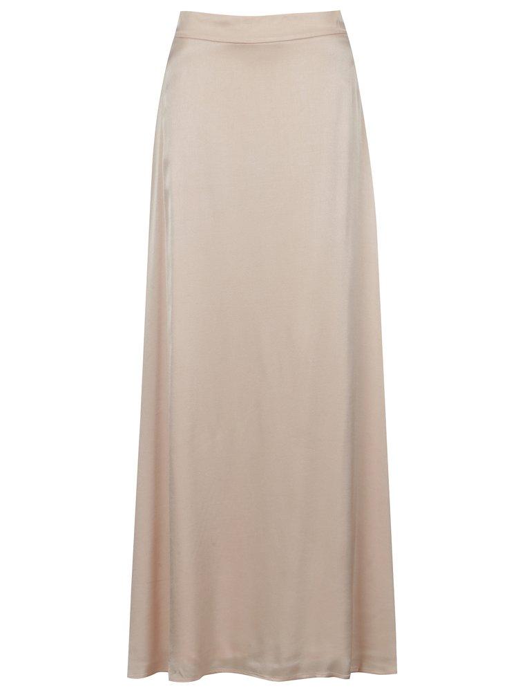 Světle růžová maxi sukně VILA Milana