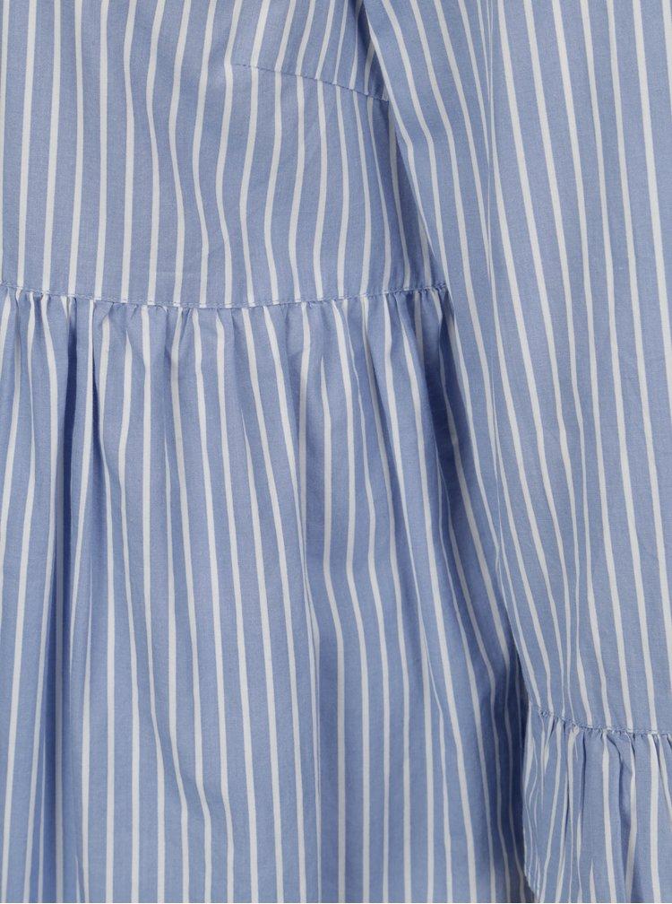 Modro-bílé pruhované šaty VILA Zolta
