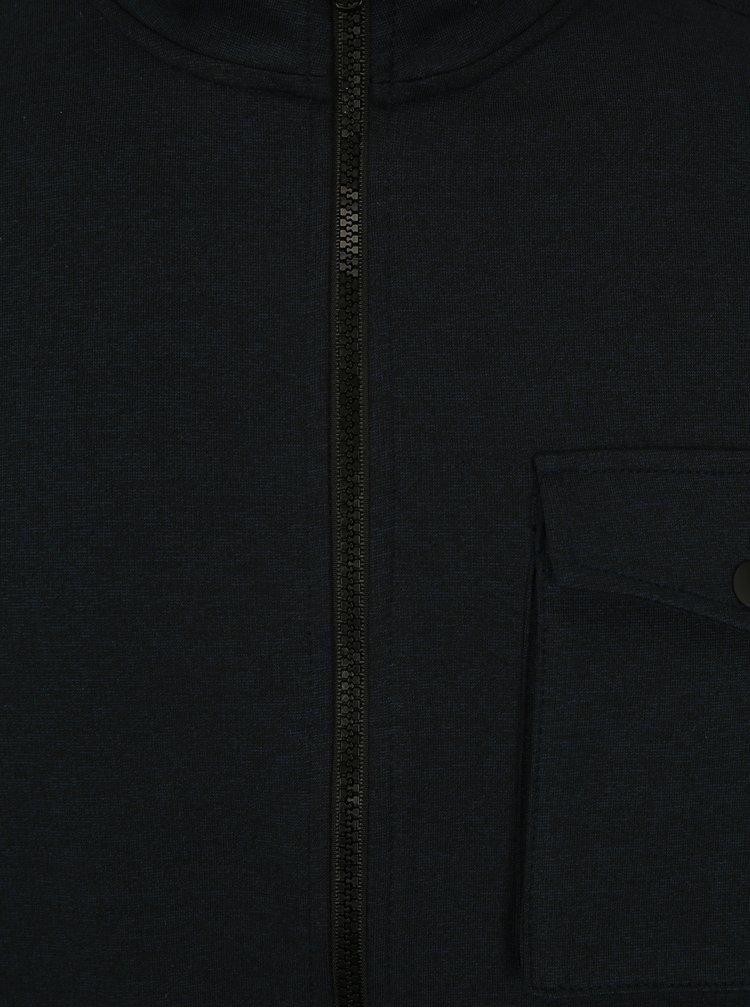Tmavě modrá mikina na zip Burton Menswear London
