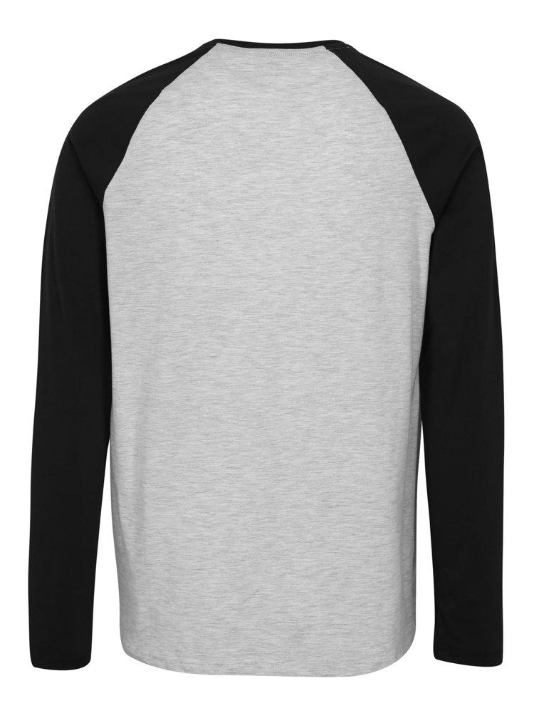 Šedo-černé žíhané regular fit tričko Burton Menswear London