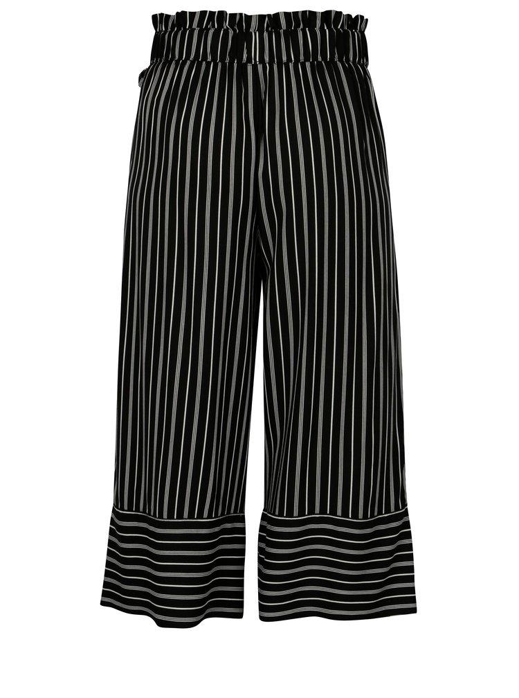 Bílo-černé pruhované culottes s vysokým pasem Jacqueline de Yong Cilja