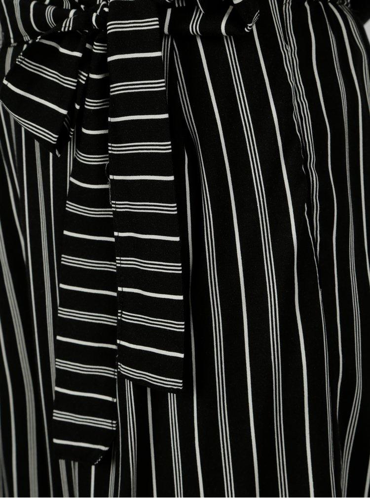 Pantaloni culottes negru&alb in dungi Jacqueline de Yong Cilja