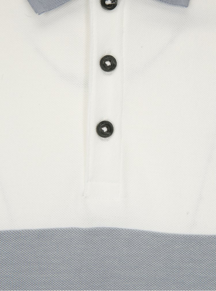 Bílo-modré polo tričko Burton Menswear London
