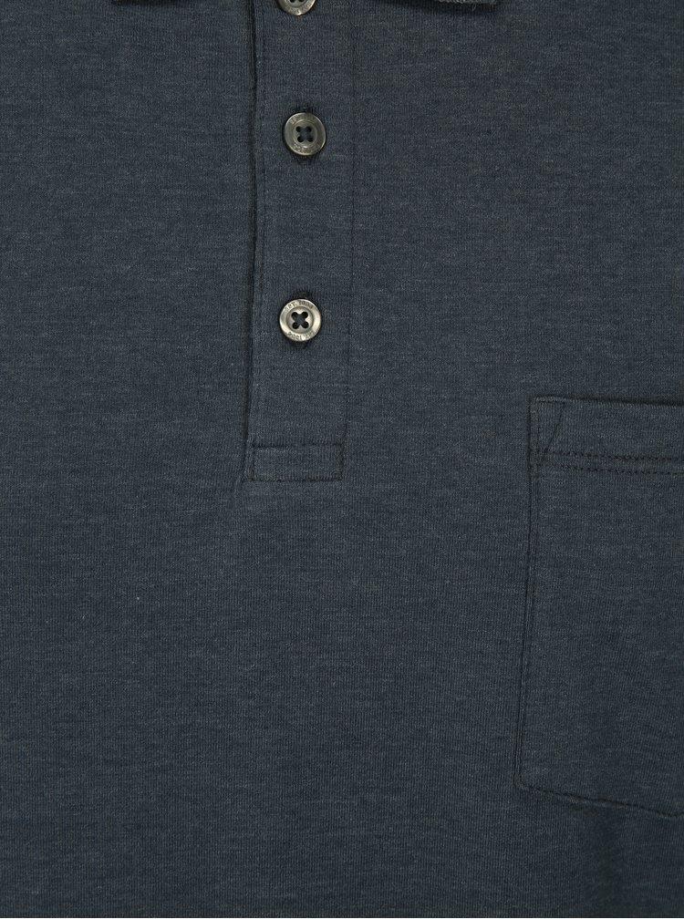 Modré muscle fit polo tričko Burton Menswear London