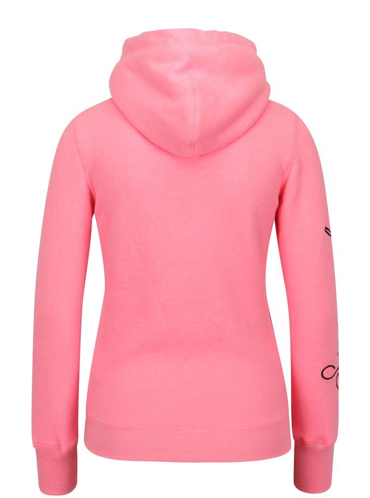 Hanorac roz pentru femei - Superdry Applique