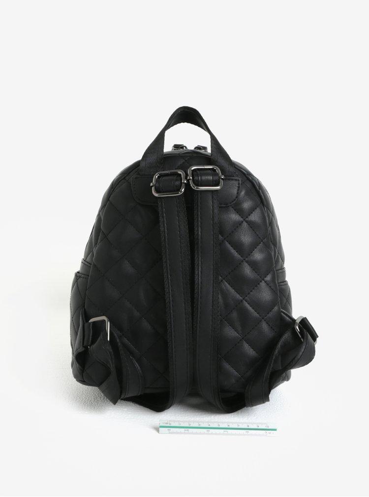 Černý prošívaný batoh Claudia Canova Hope
