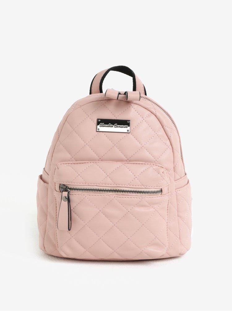 Světle růžový prošívaný batoh Claudia Canova Hope