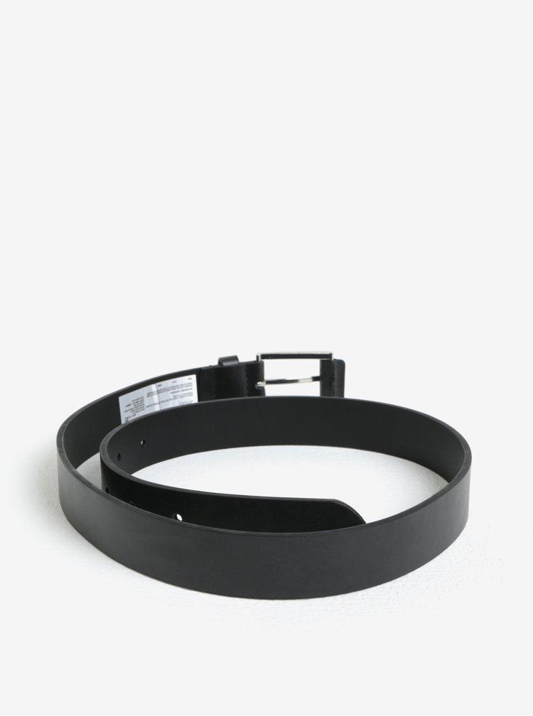 Sada dvou kožených pásků v černé a hnědé barvě s pžezkou Burton Menswear London
