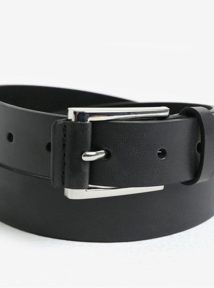Súprava dvoch kožených opaskov v čiernej a hnedej farbe s prackou Burton Menswear London