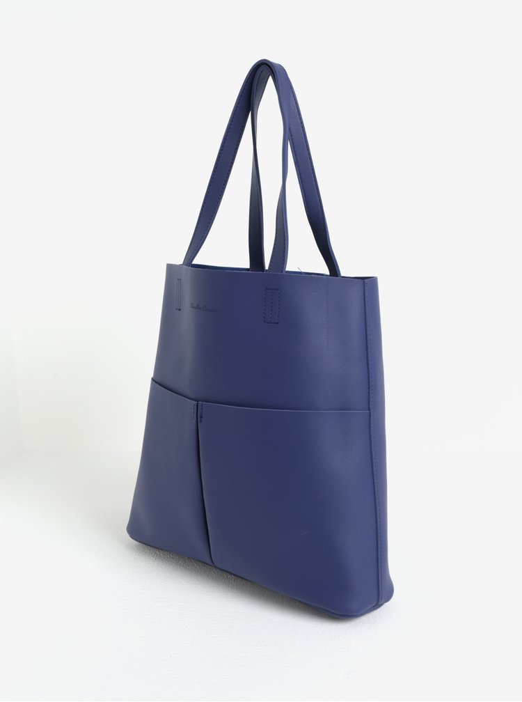 Modrý shopper s pouzdrem Claudia Canova Annalise