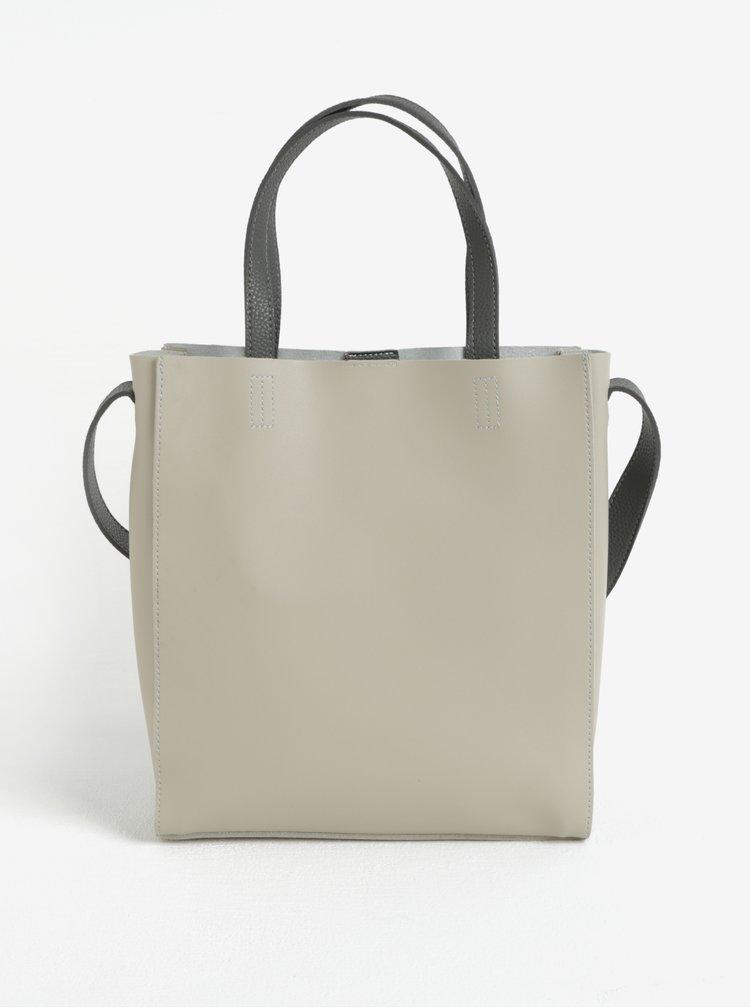 Šedo-béžová kabelka s pouzdrem Claudia Canova Kaye