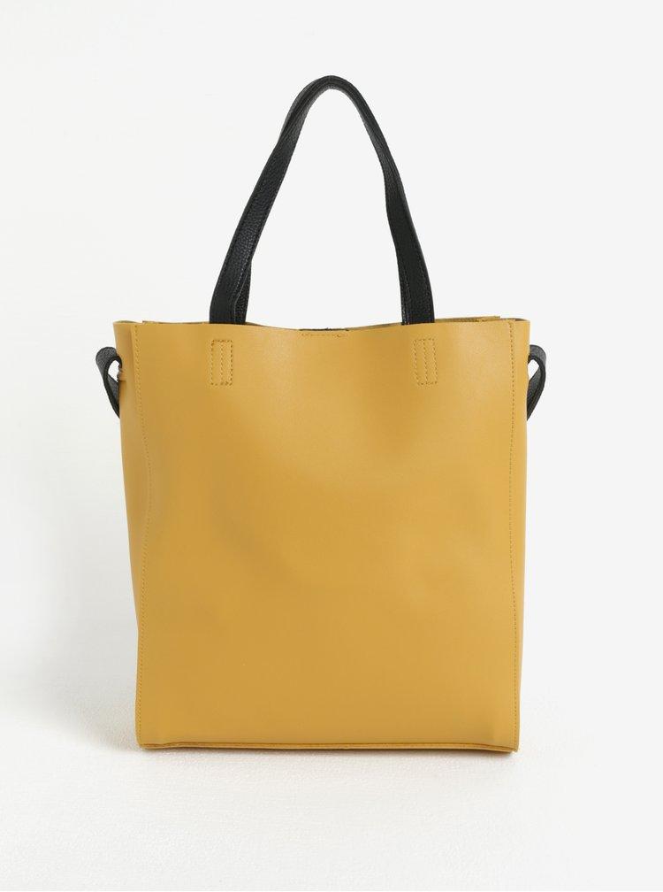 Černo-hořčicová kabelka s pouzdrem Claudia Canova Kaye