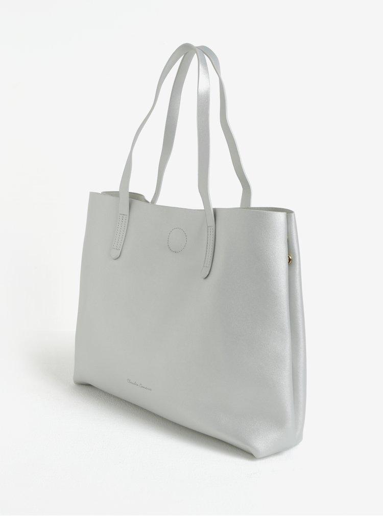 Shopper s pouzdrem ve stříbrné barvě Claudia Canova Ophelia