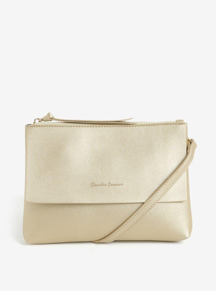 Crossbody kabelka ve zlaté barvě Claudia Canova Eloise