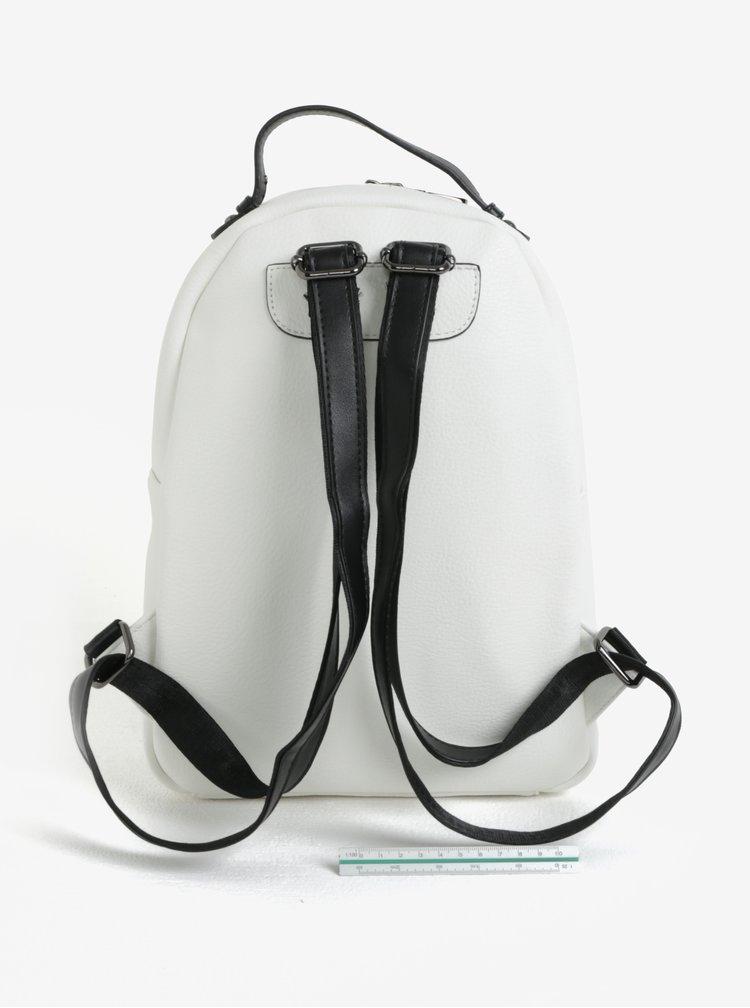 Černo-krémový batoh Claudia Canova Adrianna