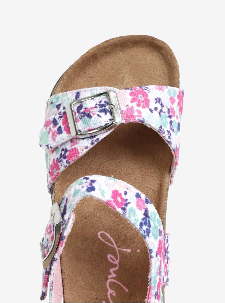 Bílo-růžové holčičí sandály Tom Joule Tipytoe