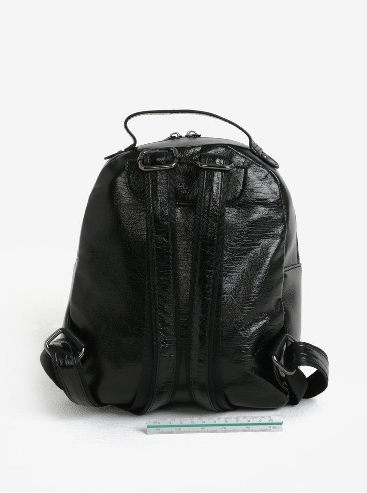 Černý malý lesklý batoh Claudia Canova Damsel