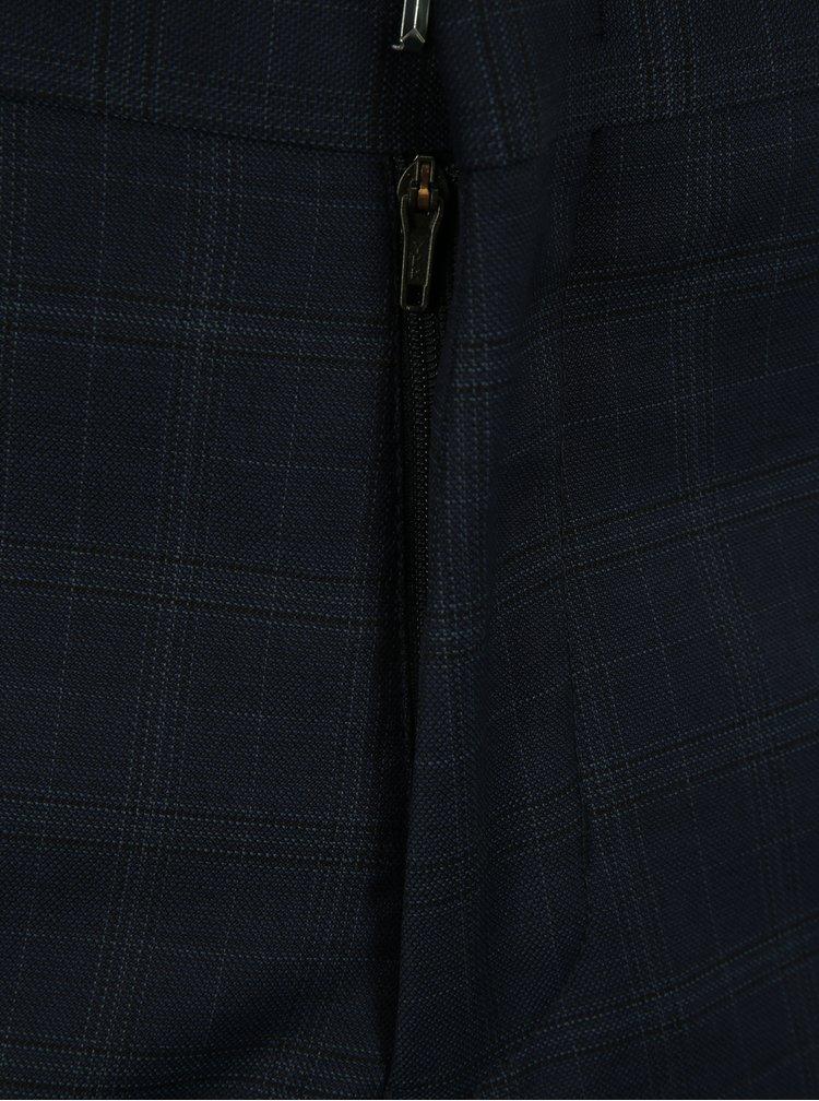 Tmavě modré vlněné oblekové kalhoty Selected Homme Done Buffalo