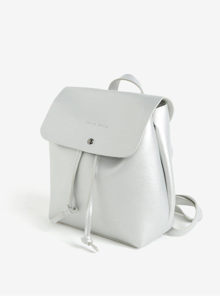 Malý batoh/crossbody kabelka ve stříbrné barvě Claudia Canova Kiona
