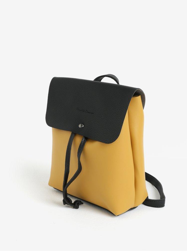 Rucsac/geanta crossbody galben cu negru Claudia Canova Kiona