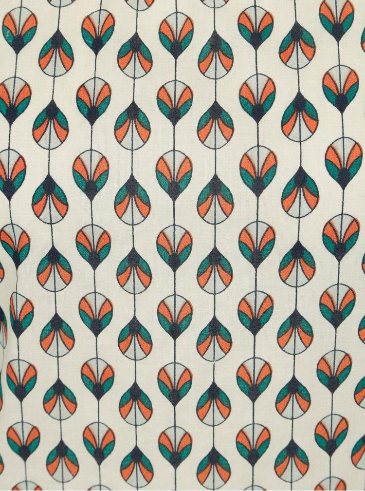Tyrkysovo-krémové vzorované tílko Tranquillo Emilia