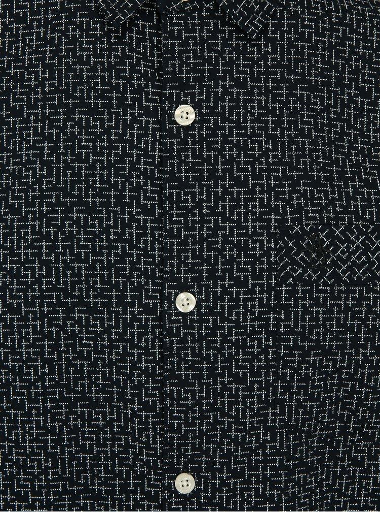 Camasa bleumarin cu print discret si buzunar la piept - Original Penguin Polin