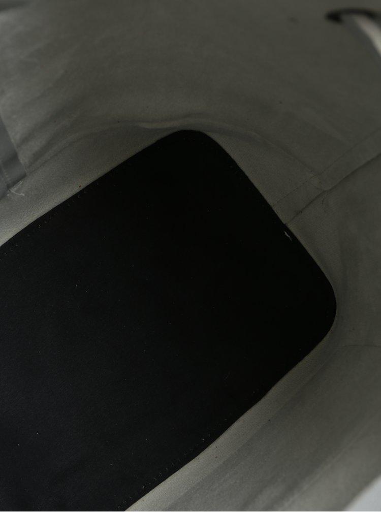 Batoh/vaková kabelka ve stříbrné barvě Claudia Canova Gaya