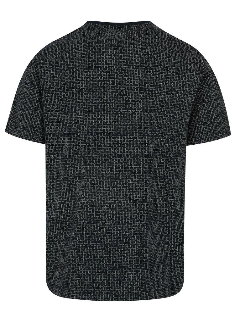 Tricou bleumarin din bumbac Pima cu print abstract - Original Penguin