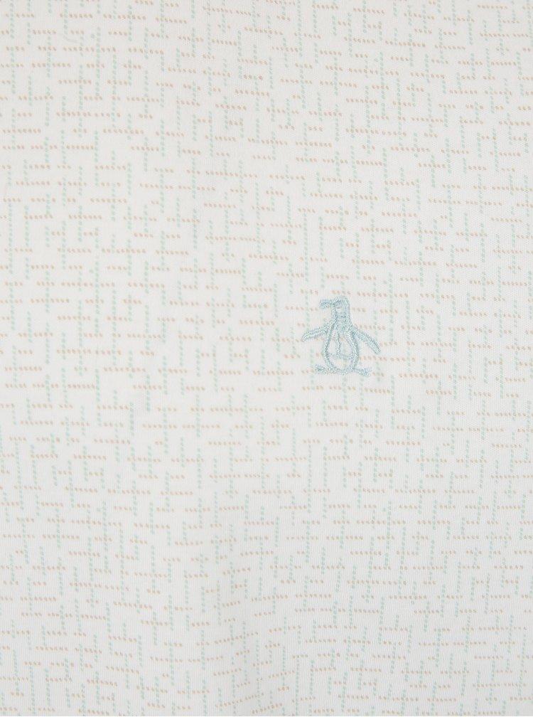 Bílé vzorované tričko Original Penguin