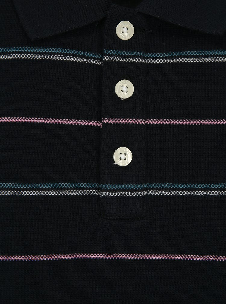 Tmavě modré pruhované polo tričko Original Penguin