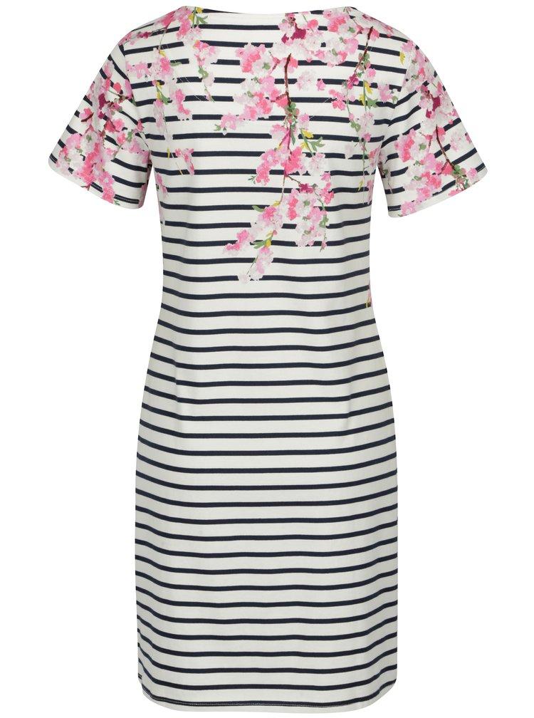 Krémové pruhované šaty s květovaným vzorem Tom Joule Riviera Print