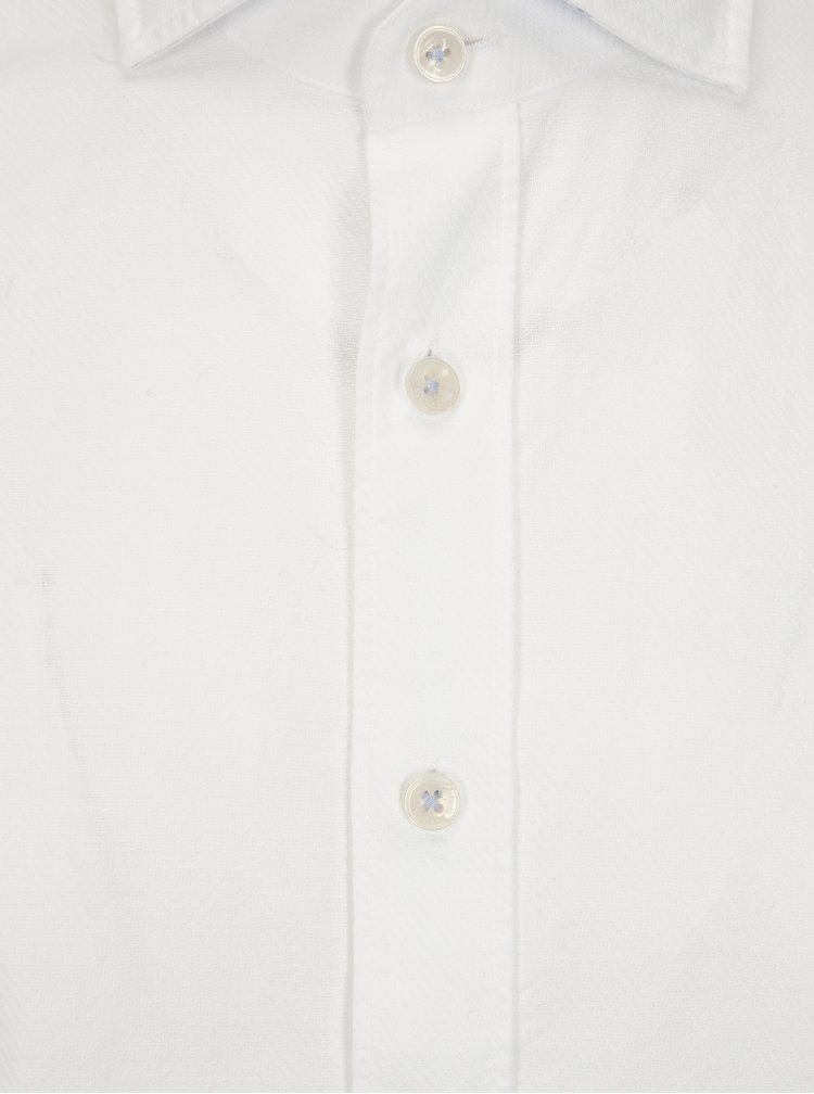 Bílá slim fit košile Hackett London Diagonal