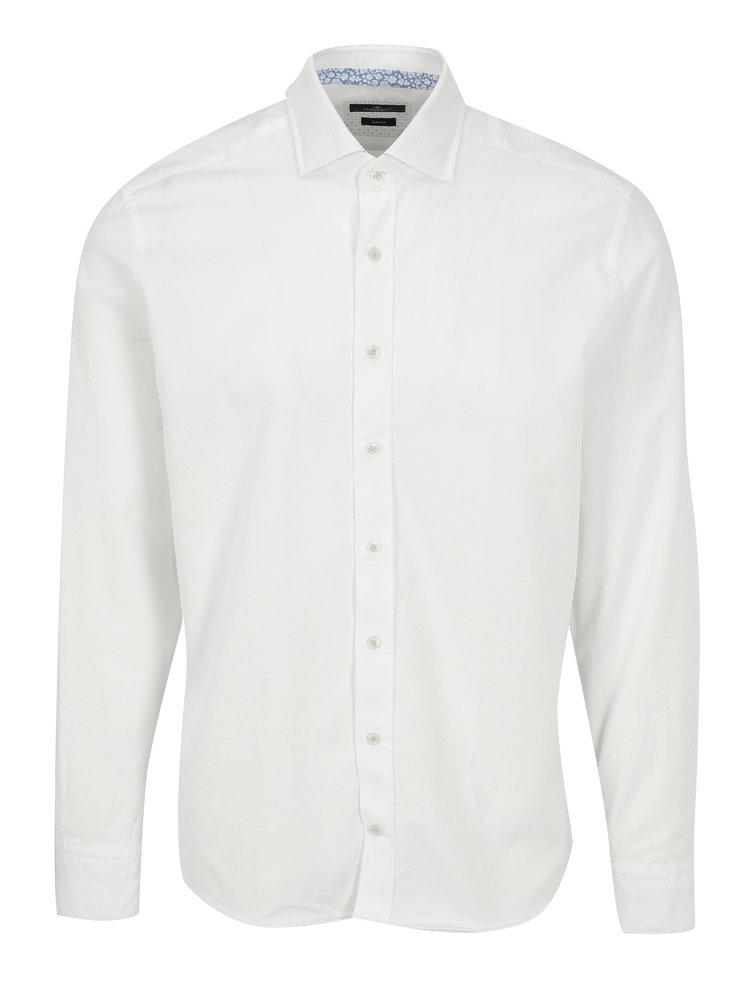 Biela slim fit košeľa Hackett London Diagonal