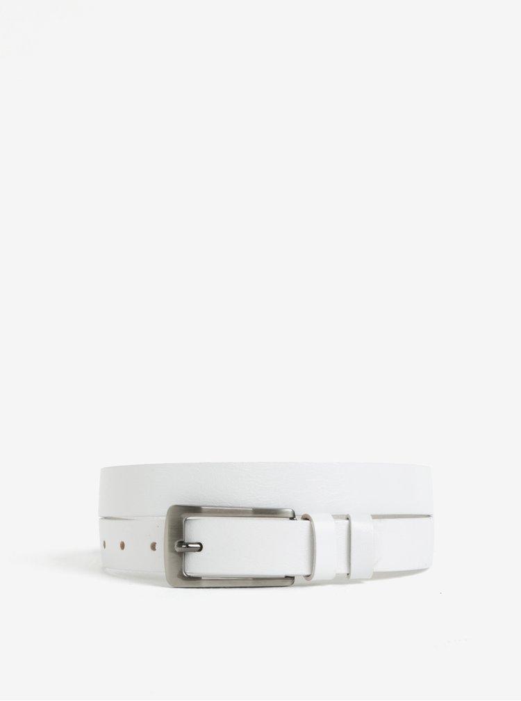 Bílý dámský kožený pásek KARA