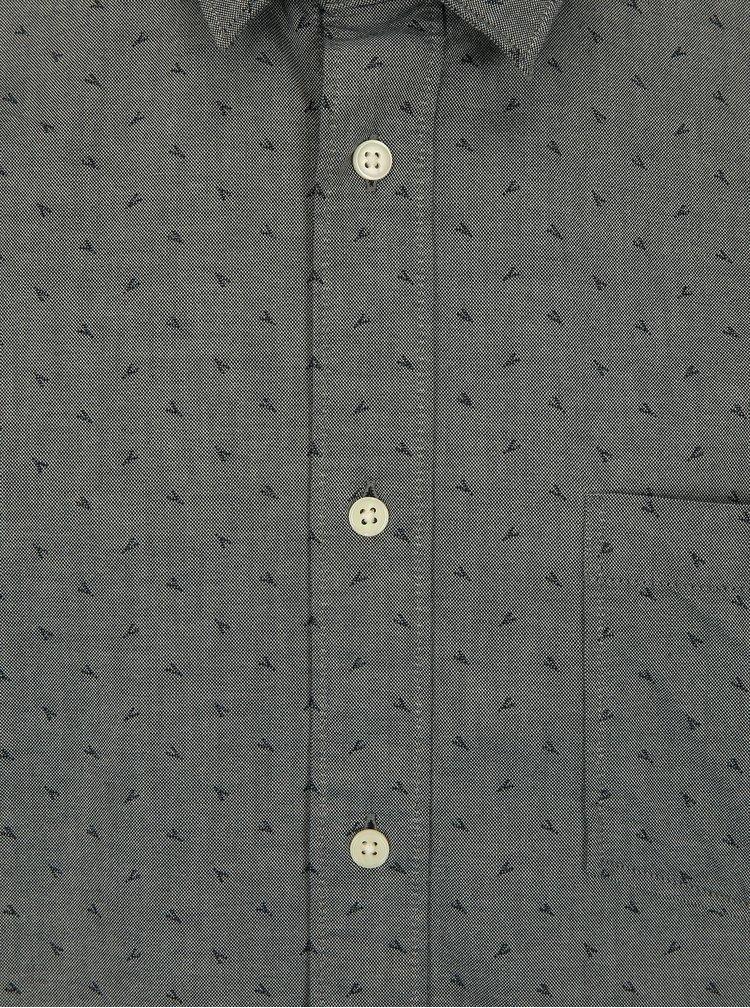 Šedá vzorovaná slim fit košile Selected Homme Fabian