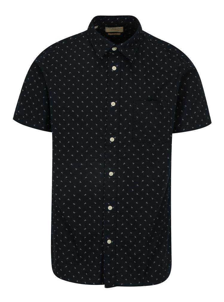 Tmavě modrá vzorovaná slim fit košile Selected Homme Fabian