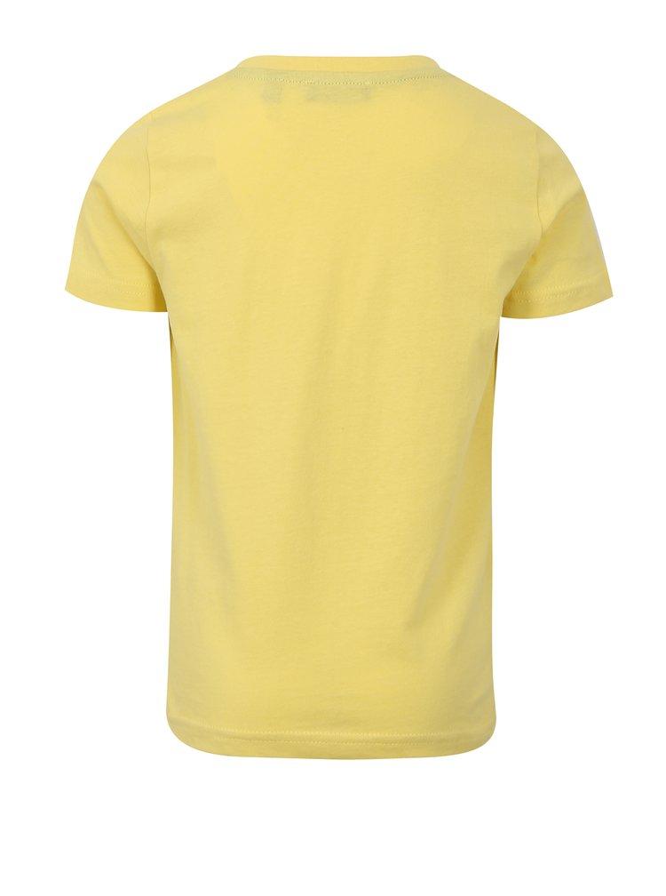 Žluté klučičí tričko s potiskem Blue Seven