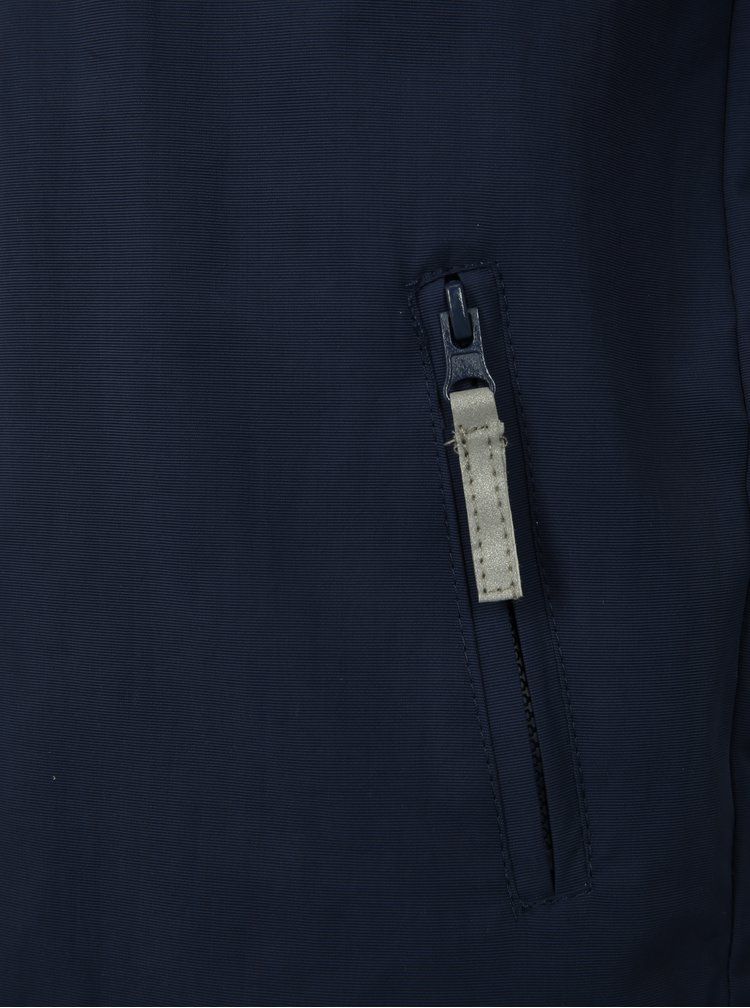 Tmavě modrá klučičí lehká bunda s potiskem Blue Seven